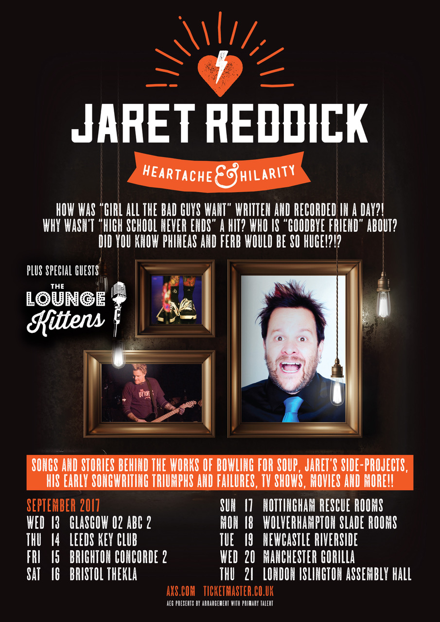 Jaret's Heartbreak & Hilarity Tour Poster